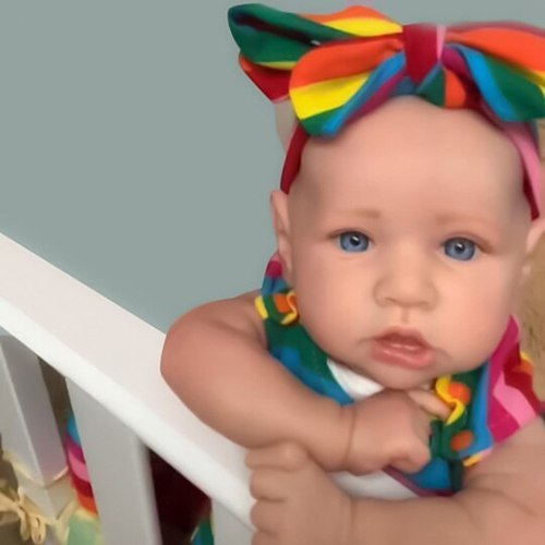 22 Inches Saskia Series Twin Sisters Little Vida & Salia Silicone Reborn Baby Doll Costume Set Cute Gift For Holiday