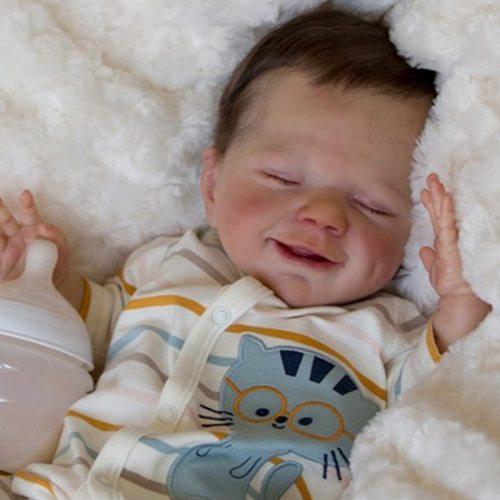 Reborn Doll Kit DIY 22inch Unpainted Model Rebirth Infant doll Mould Saskia doll kits