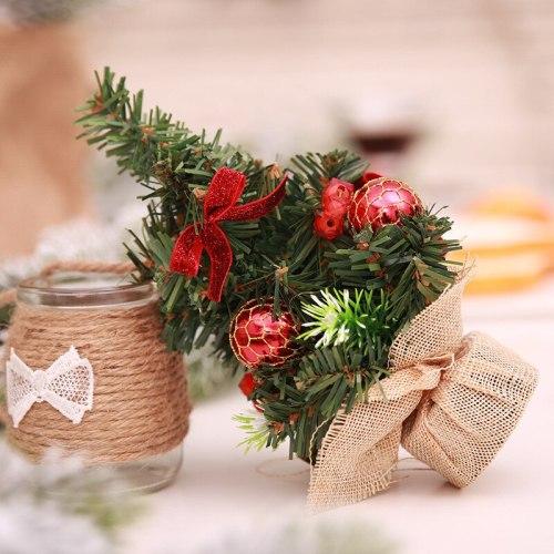 20cm Mini Christmas Tree Merry  Christmas Table Ornament 2020 Christmas Decor For Home Happy New Year 2021 Navidad Noel
