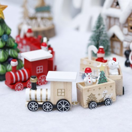 Christmas Ornament Merry Christmas Decorations For Home Navidad Wooden Train Xmas Gift Santa Claus Natal Natale 2020 Noel
