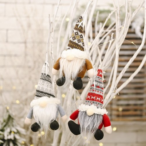 santa claus snowman Christmas faceless doll  Christmas tree decoration scene layout Christmas Decoration For Home Happy New Year
