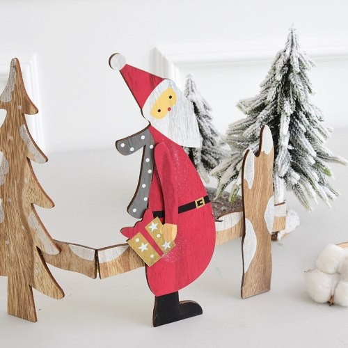 Wooden Old Man Christmas Fence  Merry Christmas Decoration For Home 2020 Christmas Ornament Navidad Natal Happy New Year
