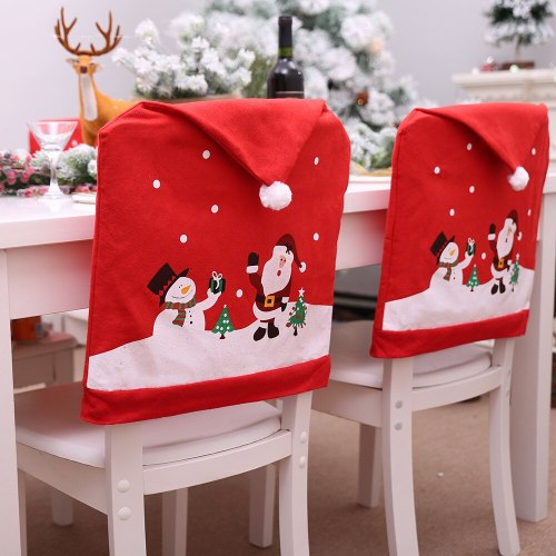 Red Snowman Christmas Chair Cover Merry Christmas Decorations For Home 2020 Christmas Ornament Navidad Xmas New Year 2021