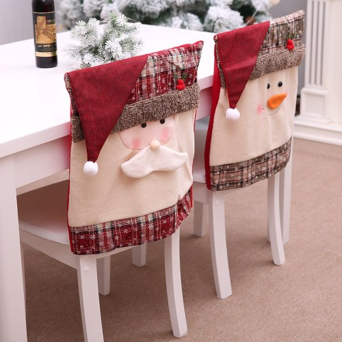 Christmas chair cover santa claus 2020 Christmas decor for home merry Christmas kitchen xmas Noel gifts happy new year 2021