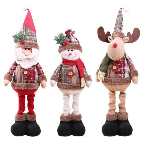 2020 Christmas Decorations Christmas Dolls Christmas Tree Decorations Innovative Elk Santa Snowman Decoration Kids New Year Gift