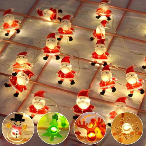Snowman Christmas Tree LED Garland String Lights Christmas Decoration For Home 2020 Christmas Ornaments Navidad Natal New Year