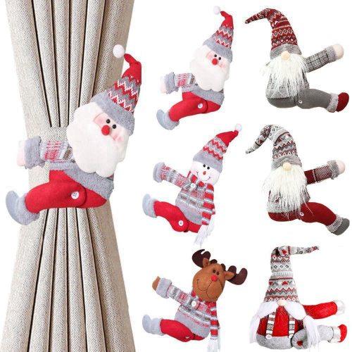 Santa Claus Elk Windows Christmas Curtain Decor Merry Christmas Decor for Home Christmas Gifts Navidad 2020 Happy New Year 2021
