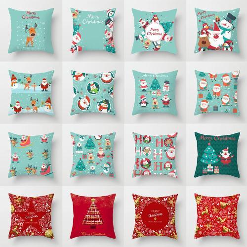 45x45cm Christmas Pillowcase Merry Christmas Decor for Home 2020 Christmas Ornaments Xmas Gifts Navidad Noel Happy New Year 2021