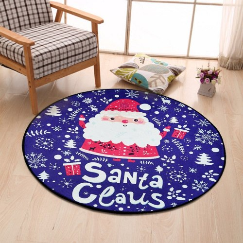 Christmas Round Carpet Bedroom Living Room Room Floor Mats 2020 Merry Christmas Decor For Home Happy New Year 2021