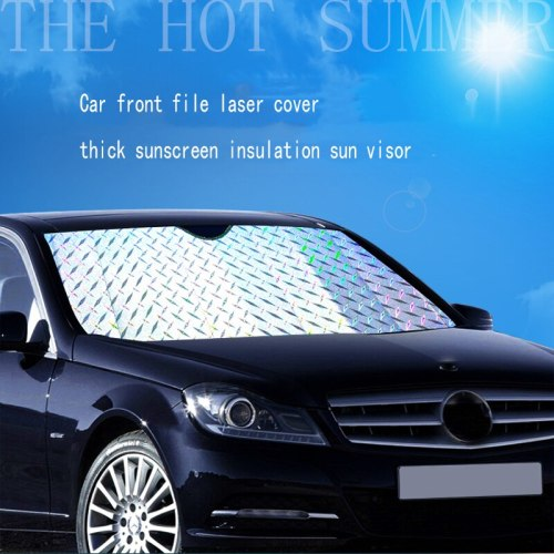 1 Piece Car Sunshade Front File Thickening Laser Sunscreen Sunshade Front Gear Sedan Suv Off-Road Sun Block