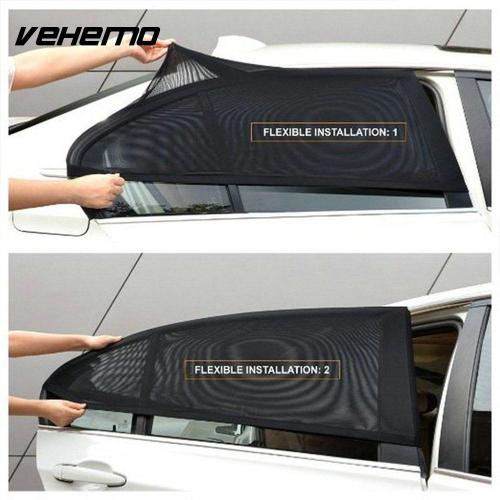 2Pcs Car Window Sun Shade Curtain Auto Window Shield UV Protection Shield Cover Sunshade Car Sun Protector Window Shades For Car