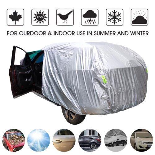 Universal SUV/Sedan Full Car Covers Outdoor Waterproof Sun Rain Snow Protection UV Car Umbrella Silver S-XXL Auto Case Cover