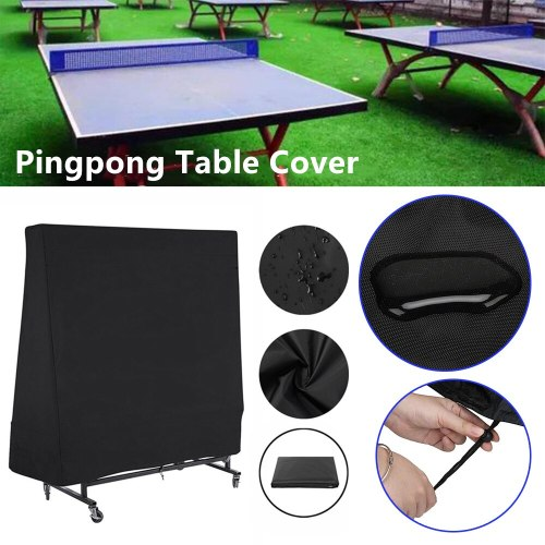300D Waterproof Ping Pong Table Cover Tennis Cover Protect Outdoor Indoor Anti-UV Dustproof Pingpong Black Cover 160x85x160cm