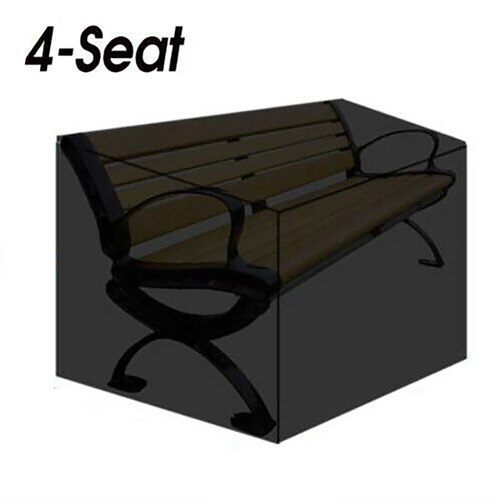 Hot New Multiple Specifications Available Garden Bench Dustproof Cover Waterproof Breathable Outdoor Bench Black Seat Cover