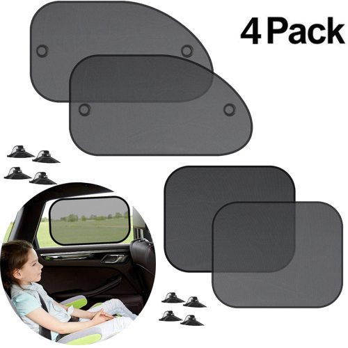 4PCS Car Window Sunshade Cover Block For Kids Car Side Window Shade Cling Sunshades Sun Shade Cover Visor Shield Screen