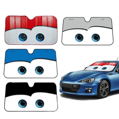 Car Eyes Heated Windshield Sunshade Car Window Windscreen Cover Sun Shade Auto Sun Visor Car-covers Car Solar Protection 6 Color