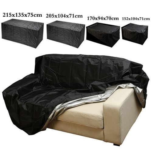 Outdoor Garden Furniture Rain Cover Waterproof Oxford Wicker Sofa Protection Set Garden Patio Rain Snow Dustproof Black Covers