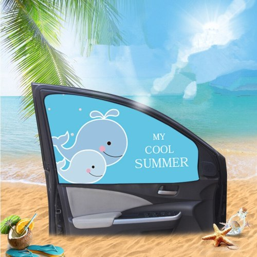 Car Magnet Curtains Sunshade Side Window Universal Cartoon Car Interior Sun Protection Magnetic Curtain Block UV Protection