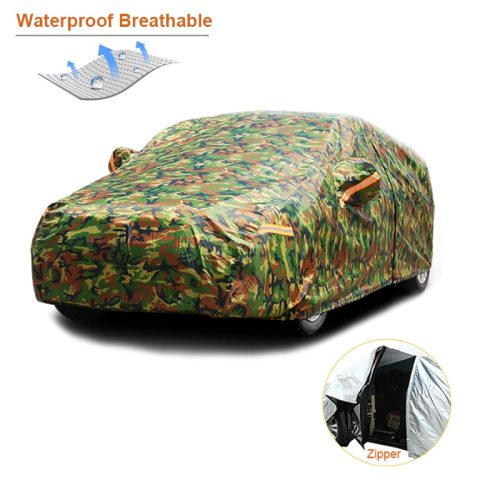 Waterproof camouflage car covers outdoor sun protection cover for car reflector dust rain snow protective suv sedan full