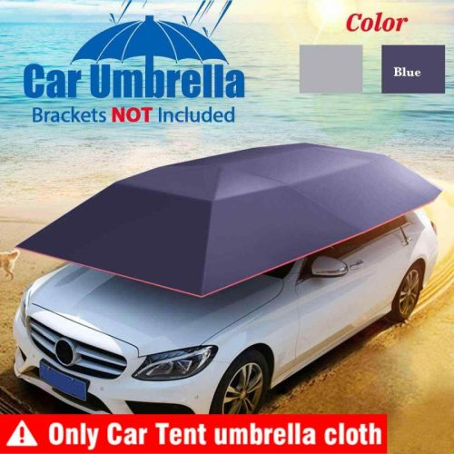Folding Waterproof Car Umbrella Sun Shade Cover Auto Protection Umbrella Oxford Cloth UV Resistant Car Tent Roof Accessories