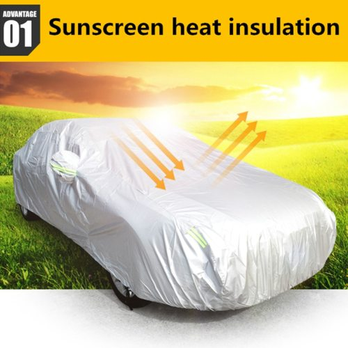 Universal SUV Car Covers Sun Dust UV Protection Outdoor Auto Full covers Umbrella Silver Reflective Stripe For SUV Sedan