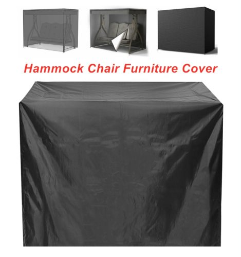 Waterproof Hammock Swing Cover Waterproof Dustproof Anti-UV Protective Cover for Patio Garden 3 Seat Swing  Chair