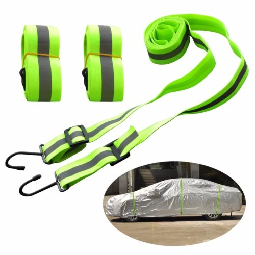 Car Covers Elastic Adjustable Reflective Stripe Rope Easy Installation Rope Protect Cover From High Wind Multiple Use