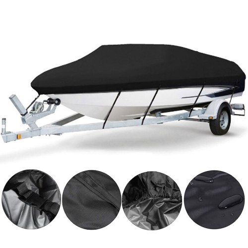 Boat Cover 11- 22FT Barco Boat Cover Anti-UV Waterproof Heavy Duty 210D Marine Trailerable Canvas Boat Accessories