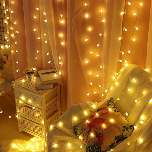 Holiday light string Christmas warm white color decoratio room 31V US UR Outdoor Garland window Indoor Party ball star Snow RGB