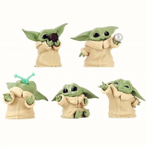 The Mandalorian Baby Yoda Action Figure Toys 5-6cm Cute Yoda Baby Figure Action Toys Hot Movie Star Wars Yoda Figuras Kids Gifts