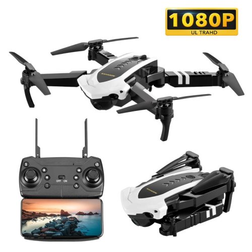 Quadcopter Drone with Camera Live Video,  WiFi FPV Quadcopter with 110° Wide-Angle 1080P HD Camera Foldable Drone RTF