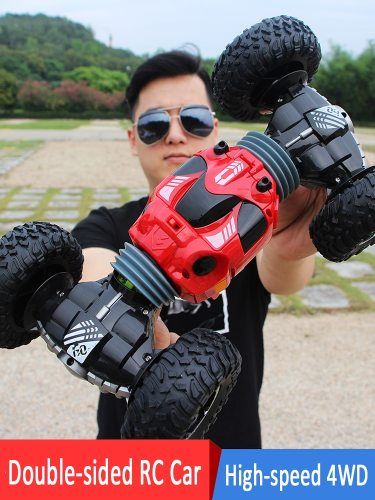 1:16 Scale Double-sided 2.4GHz RC Car One Key Transform All-terrain Off-Road Vehicle Varanid Climbing Truck Remote Control T