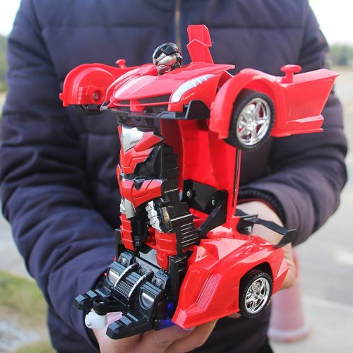 RC Car Transformation Robots Sports Vehicle Model Robots Toys Cool Deformation Car Kids Toys Gifts For Boys