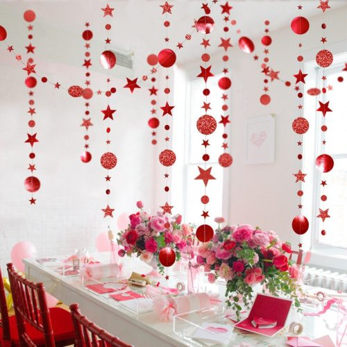 Merry Christmas Decorations for Home 4M Twinkle Star Paper Garland New Year 2021 Noel ChristmasTree Ornaments Kerst 2020 Navidad