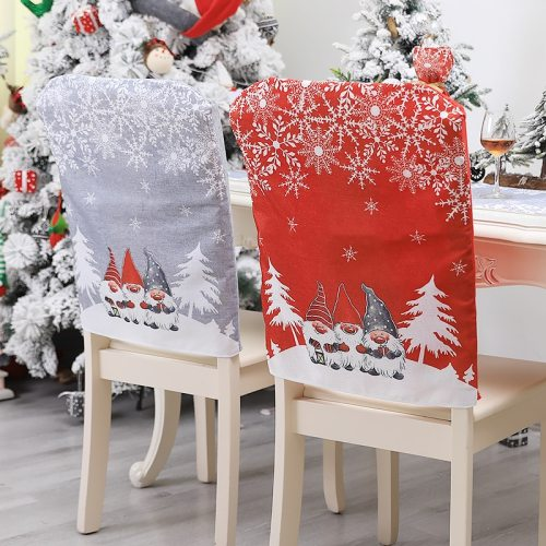 Red Gray Santa Christmas Decoration Chair Cover Ornament Xmas New Year Party Banquet Table Dining Home Decor Supplies 63246