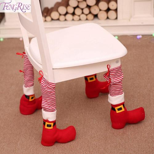 Chair Foot Covers Christmas Decor For Home Christmas Table Decor Ornament 2020 Navidad Xmas Party Decor New Year Gift