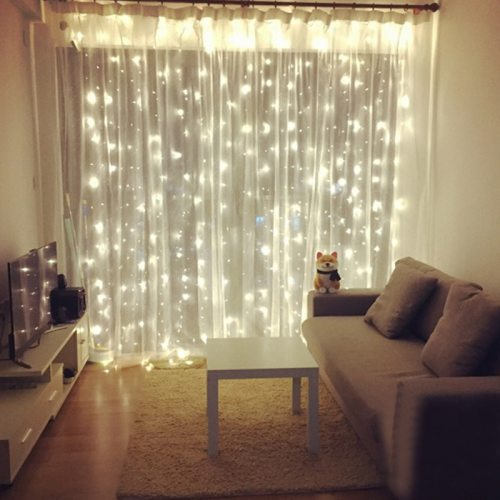 Christmas Curtain light 96/300LED Wedding Holiday LED String Light Decorative Fairy Lamp bulb Garland Party for home decorations