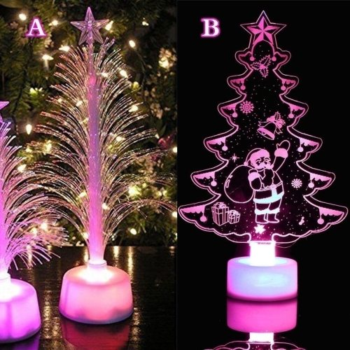 Hot Merry LED Color Changing Mini Christmas Xmas Tree Home Table Party Decor Charm Perfect Present