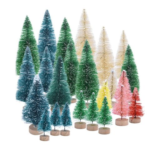 5pcs Mini Christmas Tree Fake Pine Trees DIY Colorful Xmas Photo Prop for Christmas Party Table Decoration New Year Home Decor