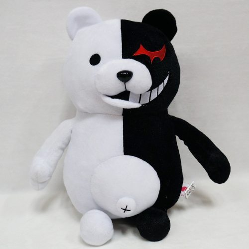 Dangan Ronpa Super Danganronpa 2 Monokuma Black & White Bear Plush Toy Soft Stuffed Animal Dolls Birthday Gift for Children
