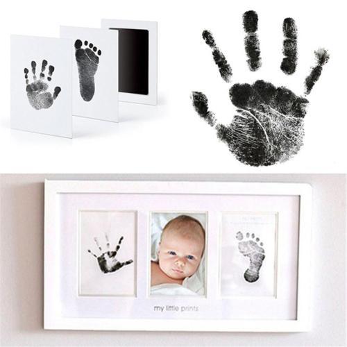 DIY Handprint Footprint Imprint Kit Baby Care Non-Toxic Photo Frame Baby Souvenirs Toy Casting Clay Print Newborn Ink Pad Toys