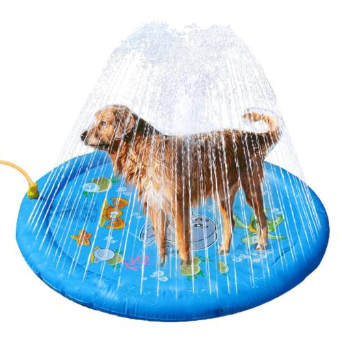 2020 New Splash Sprinkler Pad For Dog Wading Pool Backyard Fountain Play Mat Summer Outdoor Water Toys For Babies And Pets
