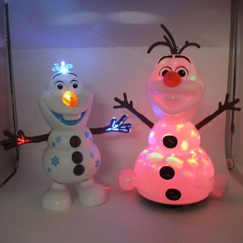 Frozen 2 Robots Snowman Olaf Electric Toys Dance Moves Light Music Cartoon Plastic Toy Boys And Girls Christmas Gifts