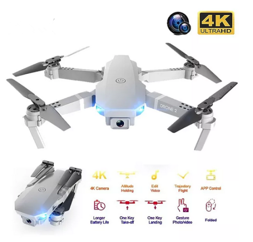 2020 E68Pro Mini Drone 4K 1080P Wide Angle Camera Dron Wifi FPV Height Hold Mode RC Foldable Quadcopter Kid's Gift
