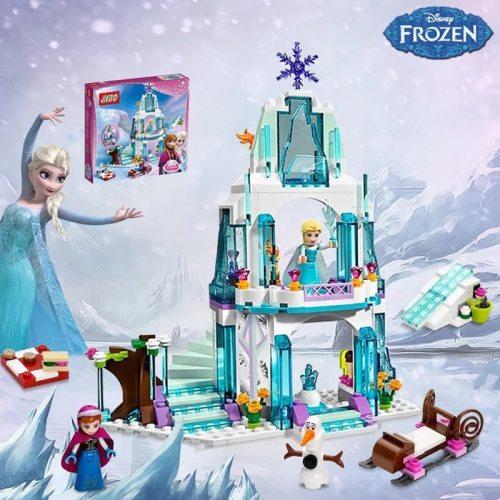 Frozens Princess Snow Queen Elsa Ice Castle Princess Anna Snow Figures Building Blocks Toy Friends City Bricks Toys For Children