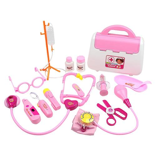 Children Pretend Play Doctor Toy Set Portable Backpack Medical Kit Kids Educational Role Play Classic Toys Xmas Gifts
