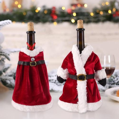 Christmas Wine Bottle Set Merry Christmas Decor for Home 2020 Navidad Noel Cristmas Ornaments Xmas Gifts New Year 2021