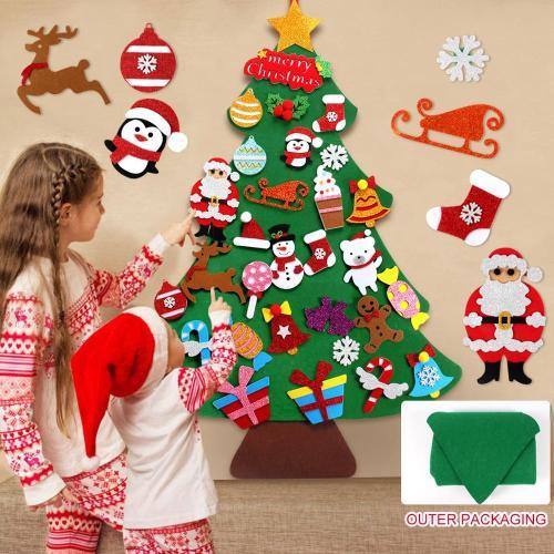 3D DIY Conical Felt Christmas Children Gift Cristmas Decor Christmas Ornaments Christmas Decorations For Home New Year deco Noel