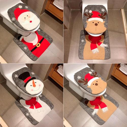 Merry Christmas Santa Claus Decorating Toilet Seat Cover Christmas Decorations For Home New Year Xmas Decorations For Home Natal