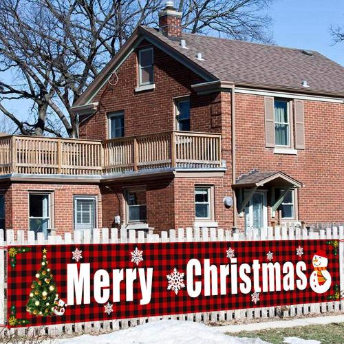 Merry Christmas Banner Christmas Decor for Home Outdoor 2020 Navidad Noel Christmas Ornaments Xmas Gifts New Year 2021